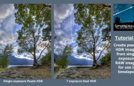 Tutorial – HDR timelapse from single exposure RAW images